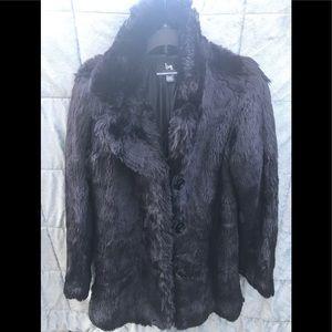 Blanc Noir Faux Fur Coat